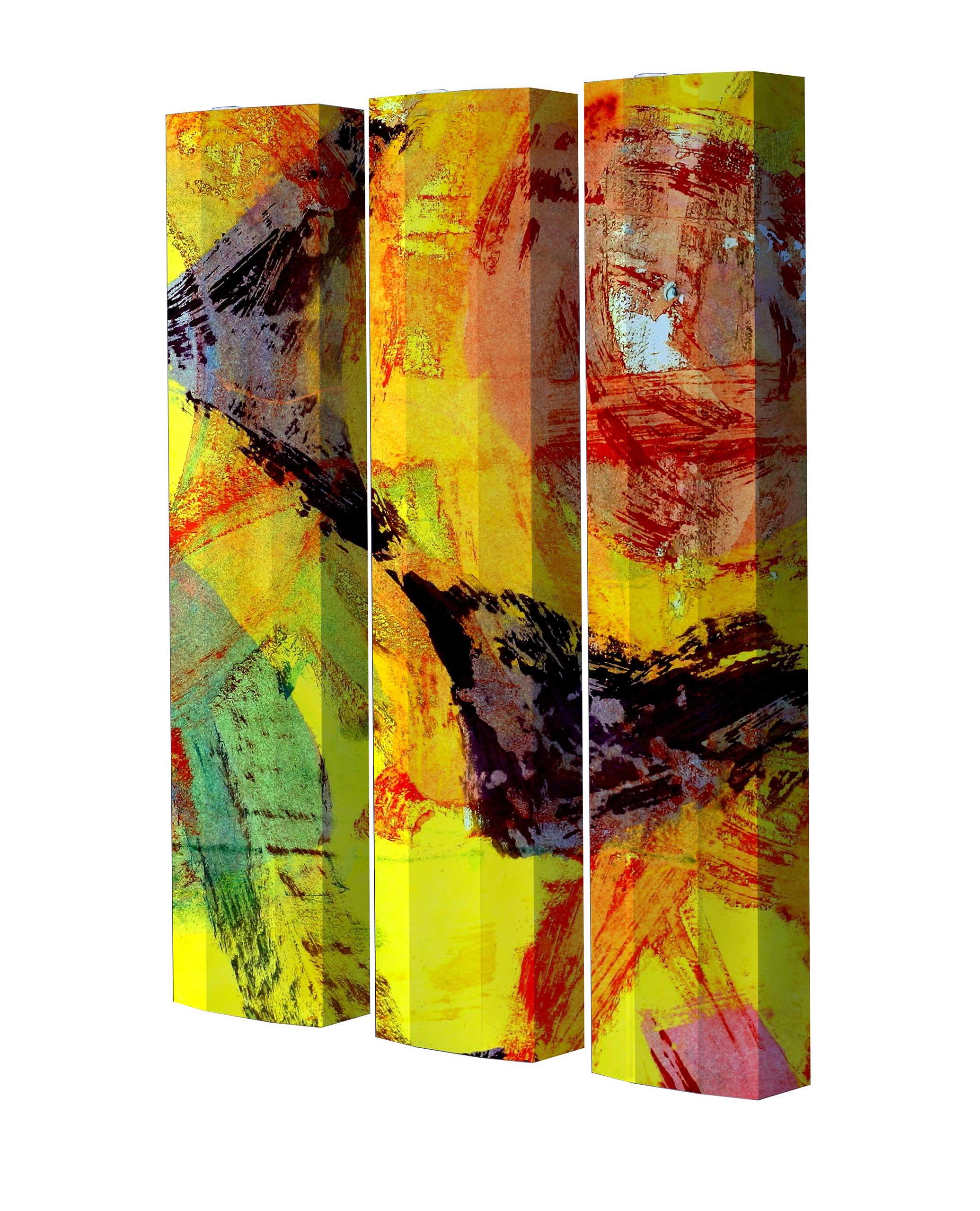 Schuhschrank STORM Motivschrank Trio ST07 Abstrakt weiß 3er Set