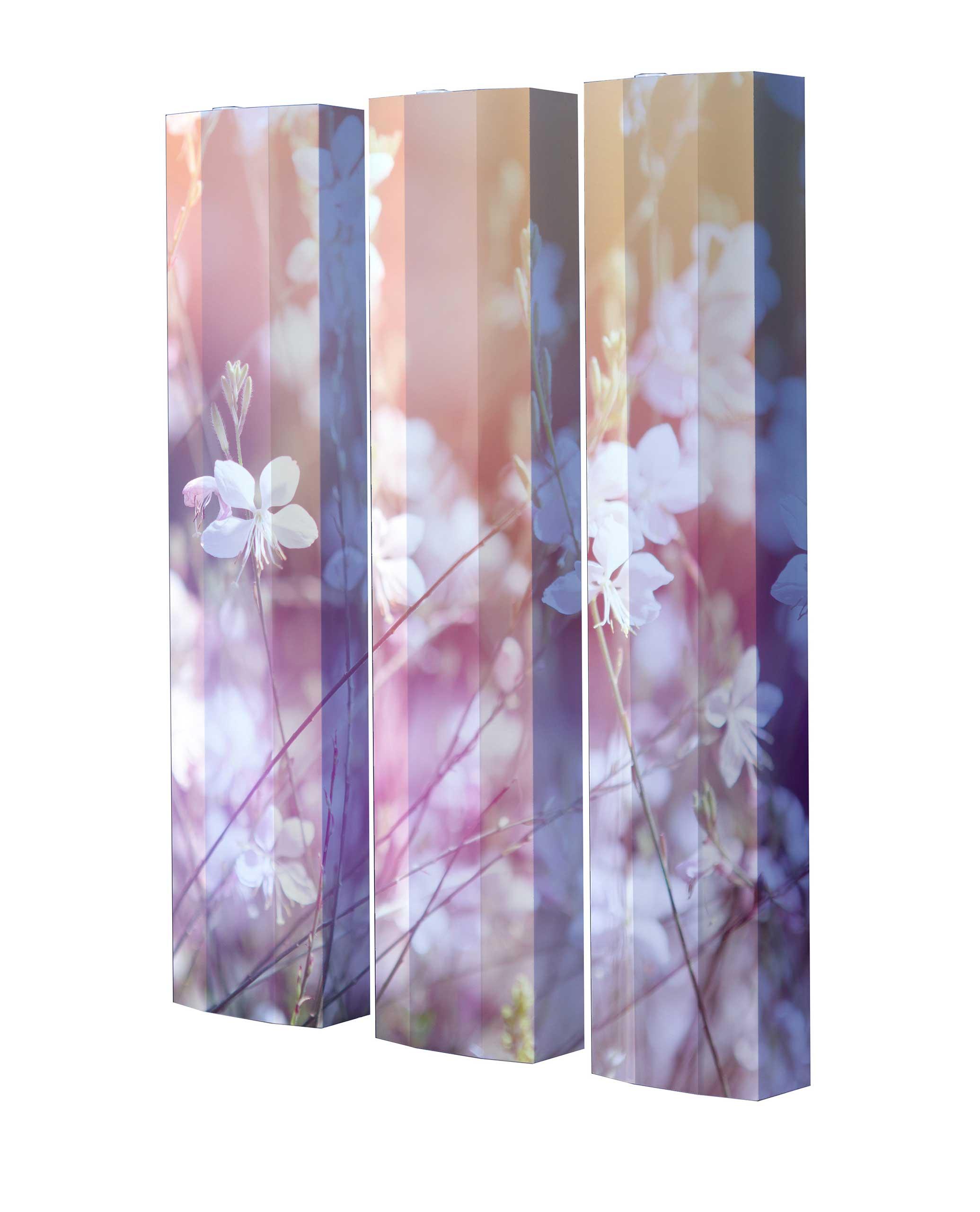 Schuhschrank STORM Motivschrank Trio ST100 Blumen weiß 3er Set