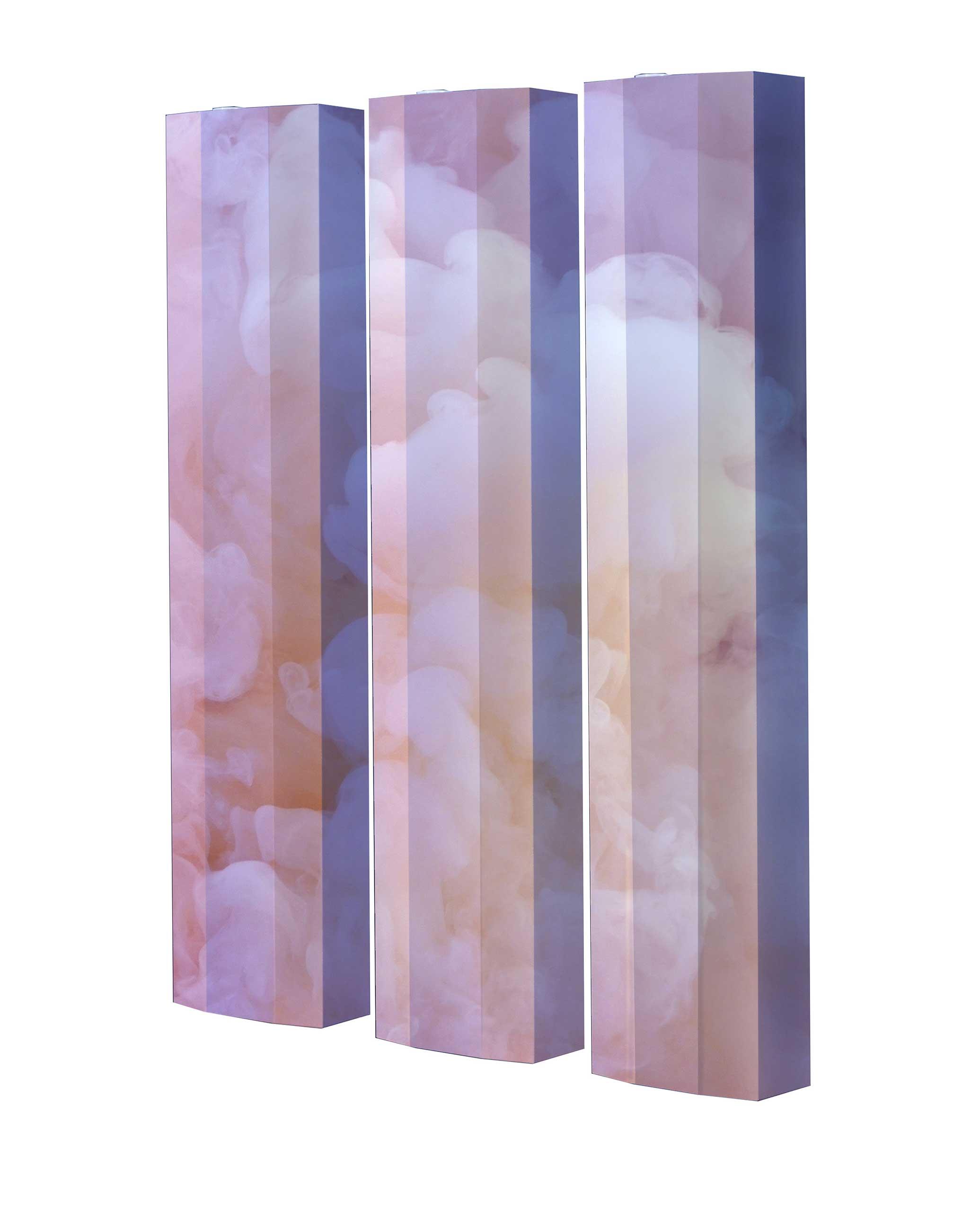 Schuhschrank STORM Motivschrank Trio ST137 Wolken weiß 3er Set