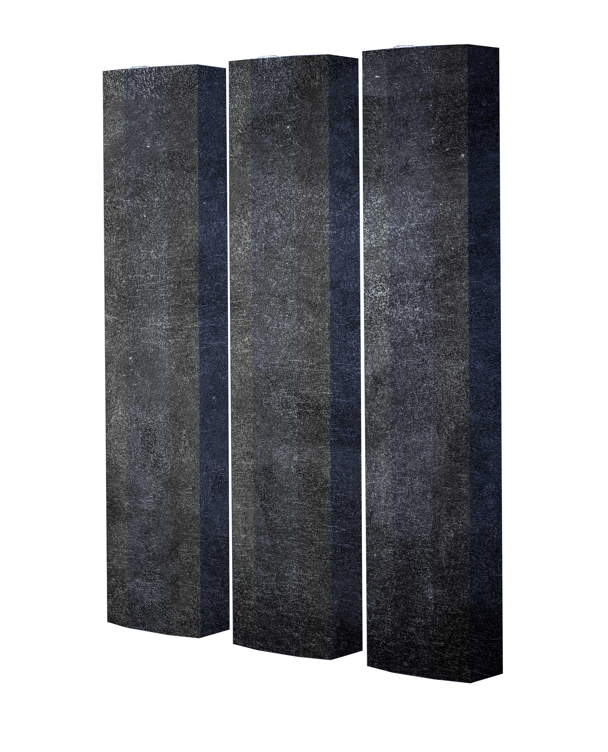 Schuhschrank STORM Motivschrank Trio ST138 Grau Muster weiß 3er Set