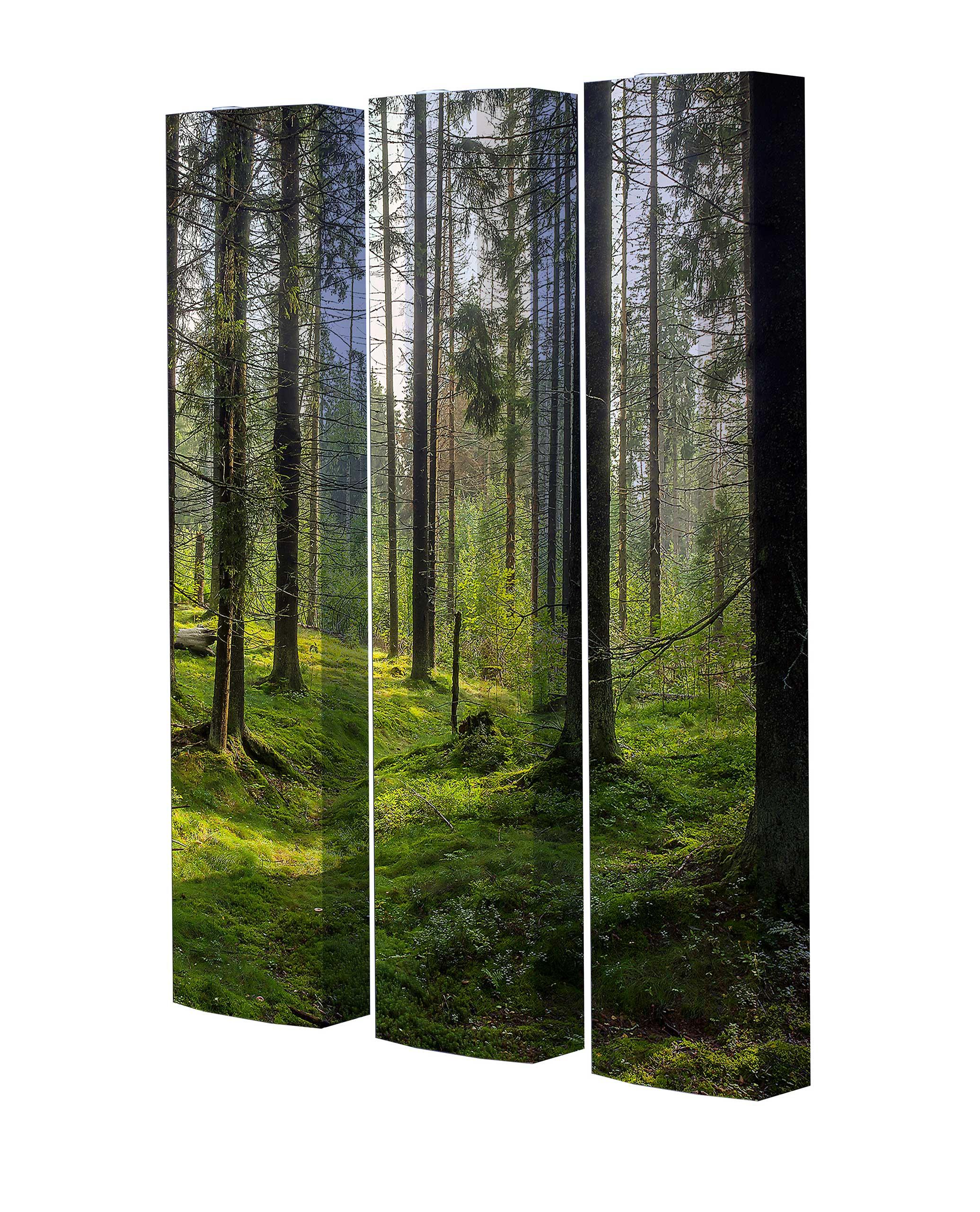 Schuhschrank STORM Motivschrank Trio ST144 Wald weiß 3er Set