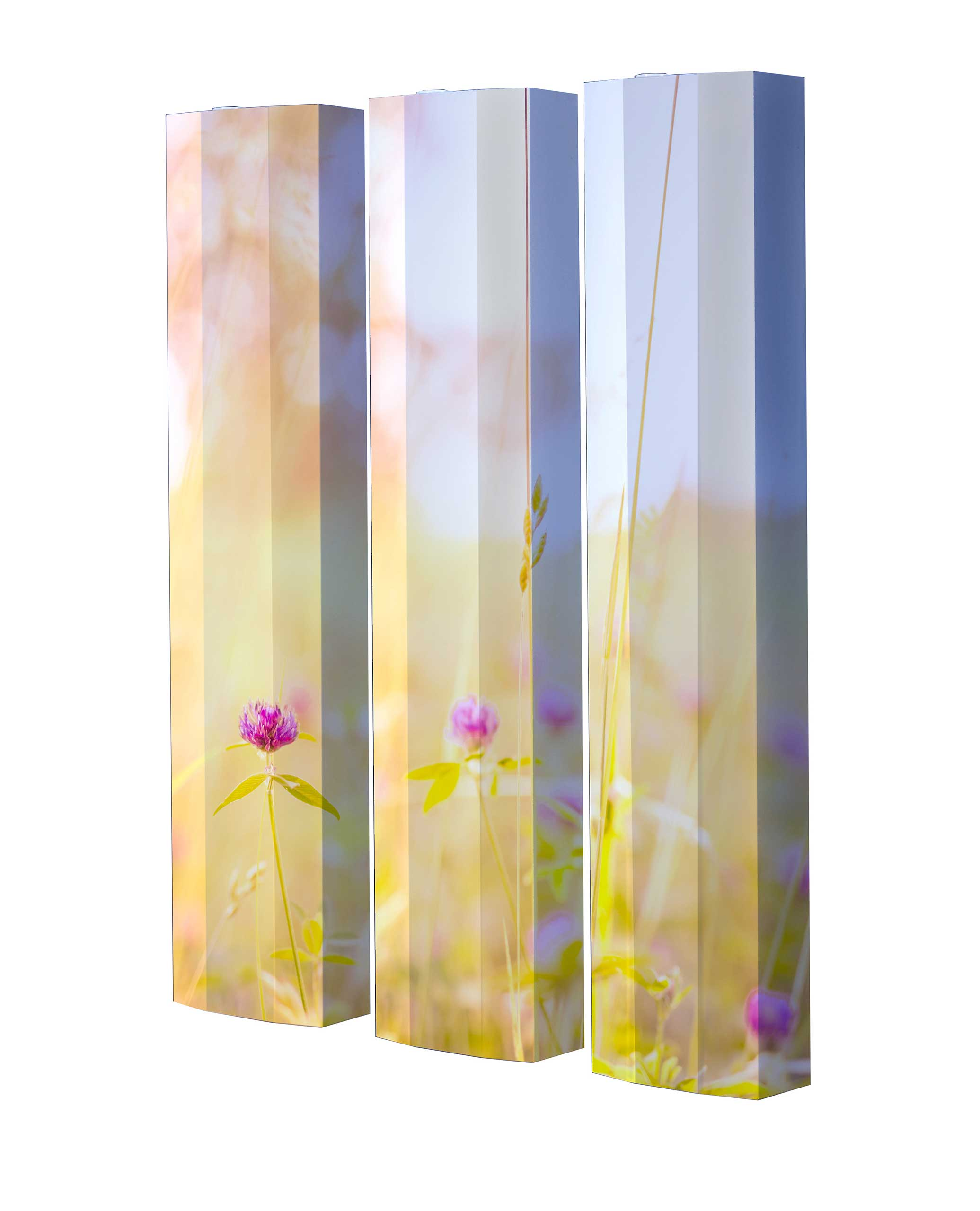 Schuhschrank STORM Motivschrank Trio ST145 Blumen weiß 3er Set
