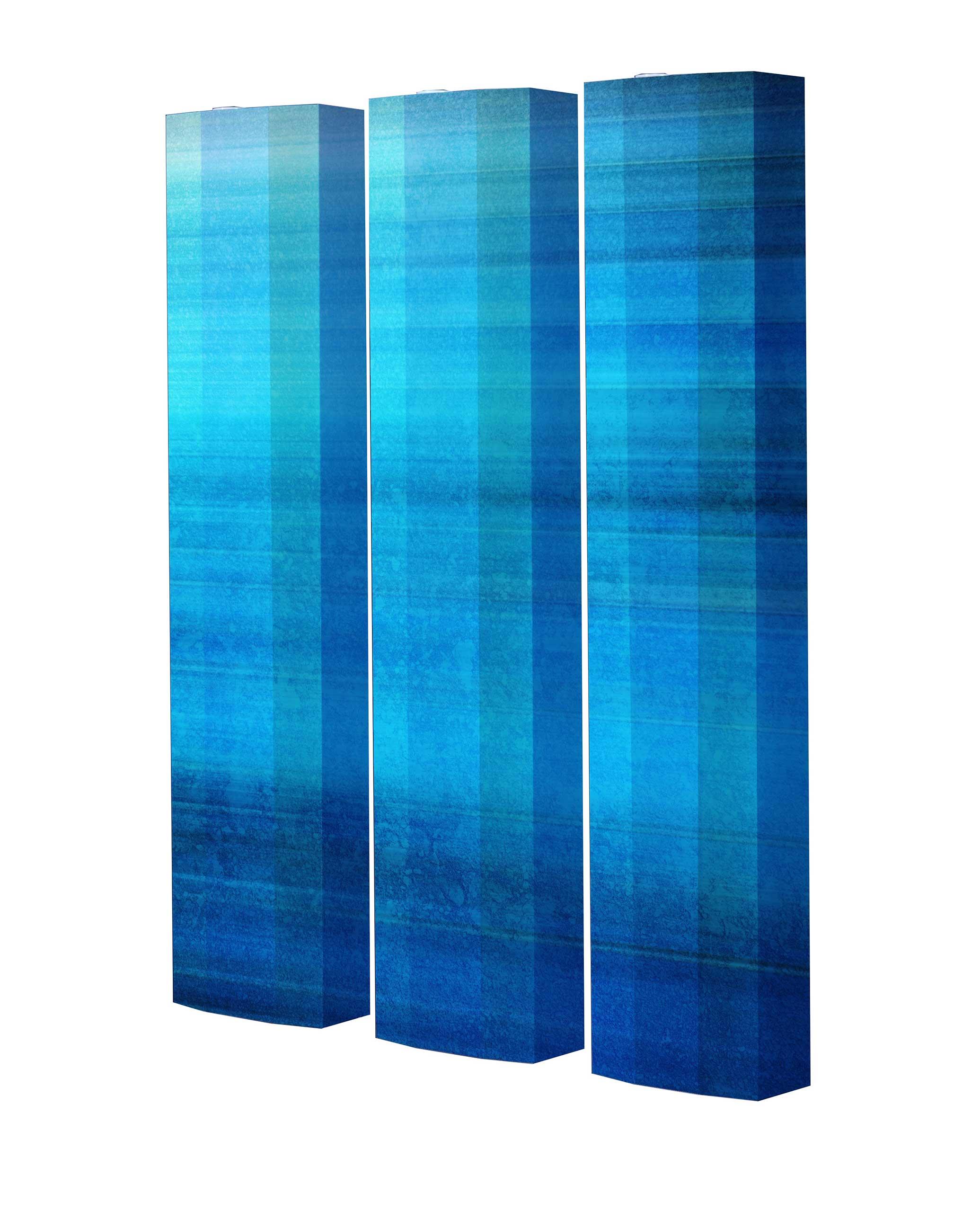 Schuhschrank STORM Motivschrank Trio ST149 Blau Muster weiß 3er Set