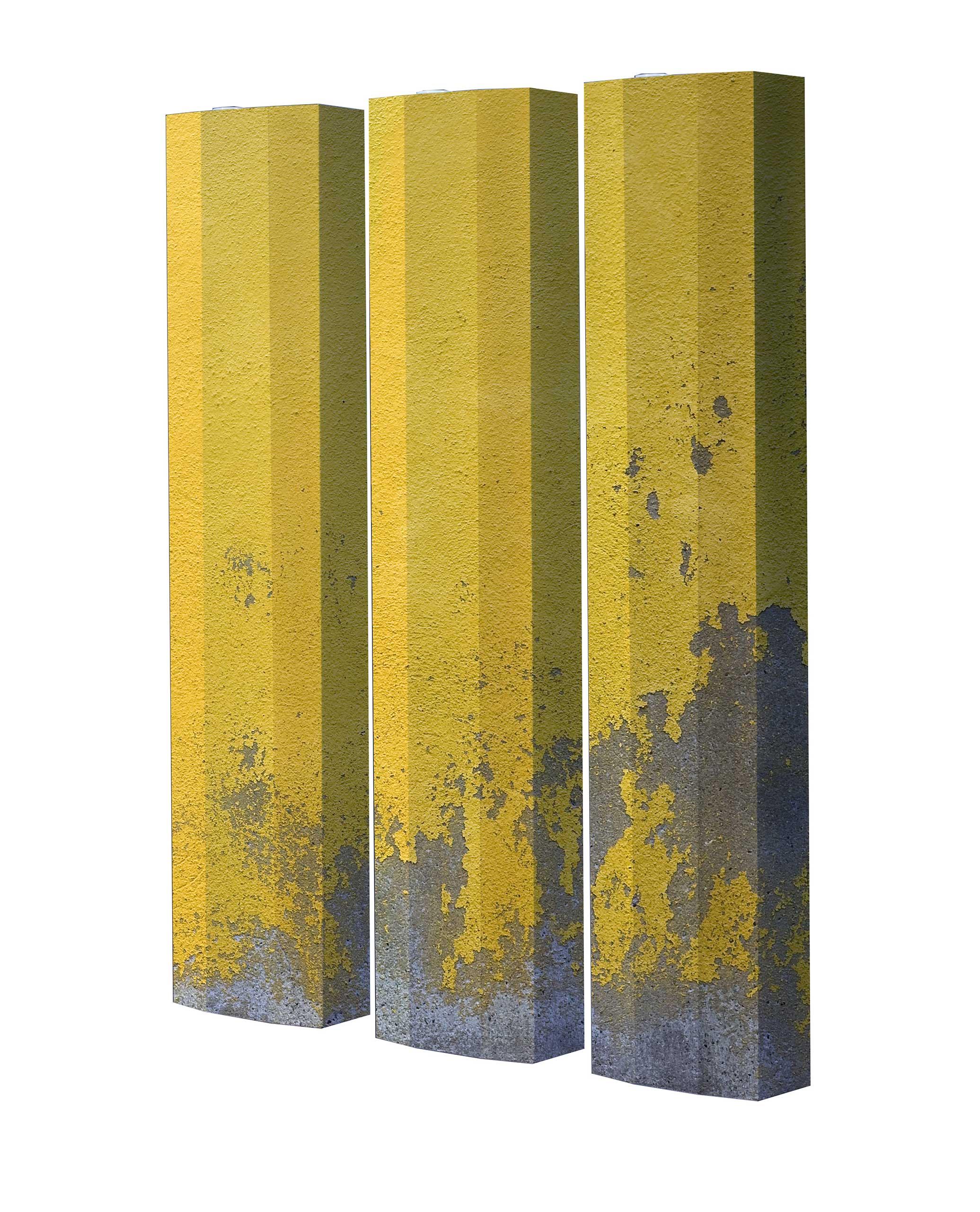 Schuhschrank STORM Motivschrank Trio ST150 Beton weiß 3er Set