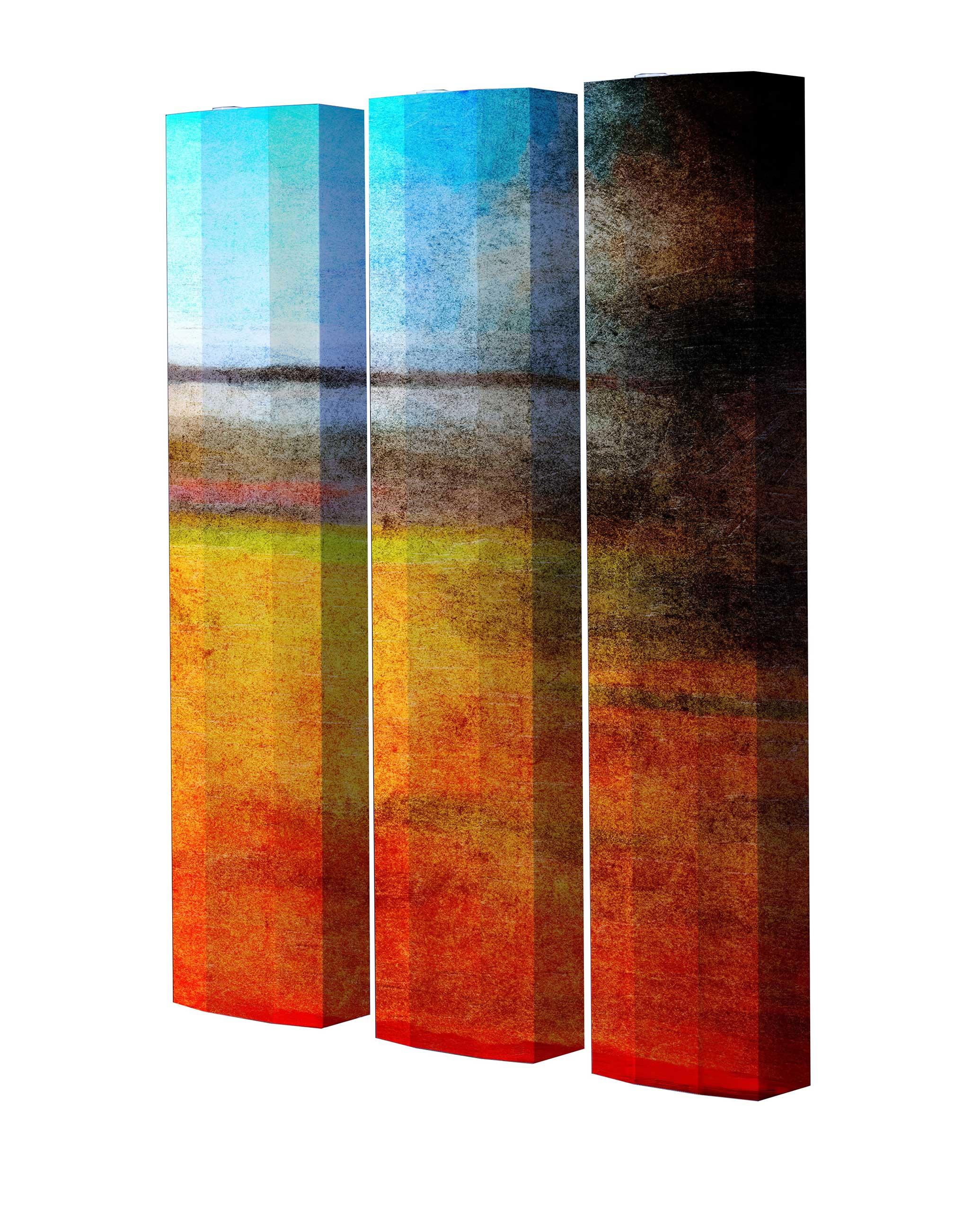Schuhschrank STORM Motivschrank Trio ST153 Abstrakt weiß 3er Set